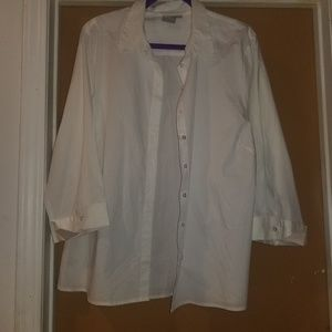 Classic button up white tshirt